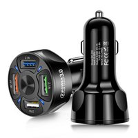 Cargador USB de coche 7A 48W 4 Puerto CARGO RÁPIDO QC 3.0 Universal Fast Charging para iPhone Samsung Car Cigarette Adaptador