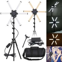 Inches Pographic Lighting 6 Tubes 3200-5600K Multimedia Extreme Star Light Camera Pography Led Lamp-Eu Plug Flash Heads