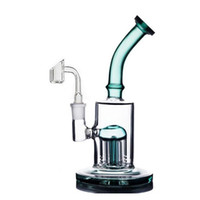10inch Glass Bongs Arm tree Perc Recycler Bubbler Hookahs Smoking Shisha Water pipe With skull oil burner pipe and banger nail dhl free