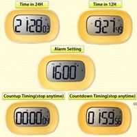 Cuisine numérique chronomètre chronomètre réveil de gros chiffres gras 12/24 HR Time Compte à rebours DHD8705
