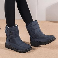 Boots Women's Ankle Winter Snow Female Casual Retro Basic Warm Shoes Vulcanized Flat Faux Fur Light Botas De Invierno Mujer 2021