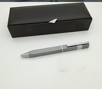 2021 stylo de luxe vieux 3 fesses rectangulaires signature stylos classique métal texture métaux métaux de luxe-stylo avec boîte