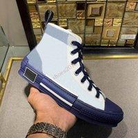 19SS B23 B24 Ограниченные Обувь Обувь Любители печатных кроссовки Универсальный Высокий Верхний холст с упаковочной коробкой размером 36-45