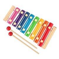 Wood octa-tom piano batendo o prédio de brinquedo infantil blocos de infância infantil Ensino de Ensino de Ensino Instrumento de Percussão
