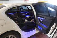 BMW 5 시리즈 F10 F11 F18 2010-2018에 대한 9 색 자동 변환 자동차 네온 실내 도어 주변 조명 장식 조명