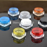 2000pcs lot 3G Square Cream Jars Clear Plastic Makeup Sub-bottling,Empty Cosmetic Container,Small Sample Mask Canister