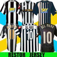 2001 2002 2004 2005 del Piero Ibrahimovic Retro Soccer Jersey 04 05 Trezeguet Emerson Nedved Zambrotta Classic Vintage Voetbalshirt