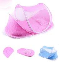 4 шт. / Лот 0-36 месяцев детская кровать портативная складная кроватка с сеткой Newborn Travel Travel Mosquito Net Ding