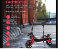 LAOTIE ES18 60V 31.2Ah 2800W*2 Dual Motor Foldable Electric Scooter With Saddle 85Km h Top Speed 100km Mileage 200kg Bearing