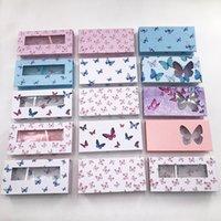 Wholesale Lash Cases Packaging Unique Bulk With Faux Mink 25mm Full Strip False Eyelashes Makeup Sets Butterfly Box
