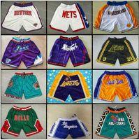 NCAA North Carolina Tar Heels Basketball Shorts Just Mens Don Michigan Wolverines Black Mamba Lower Merion High School Pocket Pants