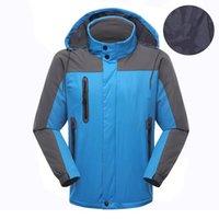 Зеленые голубые мужские лыжи Softshell Куртка на открытом воздухе Спортивные пальто Женщины лыжные Пешие ветрозащитные Зимние Волны Мягкая оболочка Водонепроницаемая Дышащаяся Ошибка