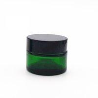 2021 vaso di vetro verde barattoli cosmetici per labbra cosmetici barattoli per teiera in vetro rotondo con rivestimenti in PP interno 20G 30G 50G barattolo cosmetico