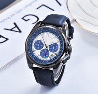 Bon marché chronomètre chronomètre montres montres de luxe automobile Hommes robe de concepteur montre en gros cadeaux masculins tous les cadranaux de travail de bracelet