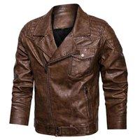 Manteaux Taille L-4XL Faux Winter épais veste en molleton décontracté moto motard vestes zipper véritable surpeuil en cuir homme