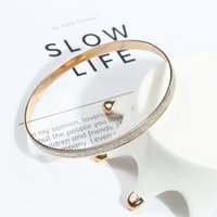 S008 Korean fashion frosted rose gold bracelet accessories single pack