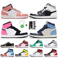 Nike Air Jordan 1 1s off white Jordan Retro 1 travis scott أعلى 3 شيكاغو الأزياء الجديدة الحب 1 1S أحذية كرة السلة للرجال والنساء لعبة الملكي الزيتون قماش الظل UNC