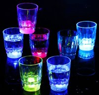 LED piscando copo brilhante líquido líquido ativado light-up vinho cerveja caneca luminoso festa barra bebida copo festa de natal decoração