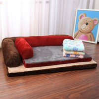 Cama para perros Soft Pet Cat Dog Beds con almohada Mermory Puppy Puppy Dog House Cushion Mat L Formado Sofá Sofá Para Perros Pequeños Grandes 210224