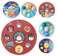 Christmas Popper Fidget Toys Eight Planets Its Pops Push Bubble Early Education Decompression Finger Pressing Bubbles Autism And Relieves Stress Squeeze Bauble