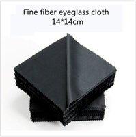 100 pcs óculos pano microfibra limpador panos de limpeza óculos de lente roupas pretas óculos pano de pano acessórios
