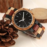 Wristwatches Simple Vintage Wood Watch Mens Unique Mixed Color Full Wooden Quartz Male Clock Hour Woody Relogio Masculino