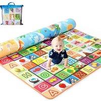200*180cm Foldable Cartoon Baby Play Mat Eva Puzzle Children's Climbing Pad Kids Rug Games s Send Storage Bag 210910