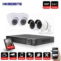 HKIXDISTE 4CH CCTV Kiti 960 P HD P2P DVR Gözetim Sistemi Video Çıkışı 4 adet 1.3MP Kamera Ev Güvenlik Gece Görüş IR-Cut