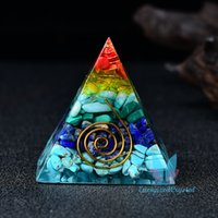 Orgon Piramidi Çok Renkli Çakıl Taş Kuvars Reiki Meditasyon Kristal Metatron Küp Hediye Kolye Kolye