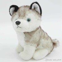 Soft HamToys Kawaii 18 cm Simulação Husky Dog Gift de brinquedo de pelúcia para crianças bebê Prent recheado crianças menino menino girllijzw7mz