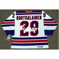 001s # 29 Reijo Ruotsalainen New York Rangers 1984 CCM Vintage Home Hockey Jersey oder benutzerdefinierte Name oder Nummer Retro Jersey