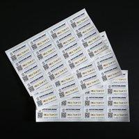 Benutzerdefinierte Rechteck-Logo-Klebstoffaufkleber-Etiketten mit QR-Code gedruckt buntes beschichtetes Papier Self-Siegel-Verpackungs-Etikettenaufkleber