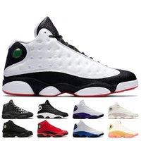 جديد كرة السلة 13 13 ثانية الرجال النساء الحب احترام تاريخ أبيض من الرحلة؛ Hof Court الأرجواني Hyper Royal Mens Sneaker أحذية