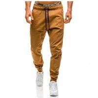 2021 Новая YDTomm Brand Men Hip Hop Harem Мужские брюки Мужские Joggers Сплошные брюки Вспомогательные штаны Большой размер M-XXXL OA2V