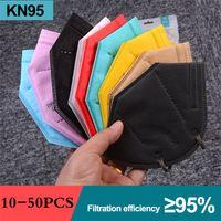 KN95 أقنعة مصمم 95٪ تصفية FFP2 جهاز تنفس قناع الوجه الكبار الغبار المضادة للضباب أسود رمادي أحمر ملون الفم faceMash بالجملة