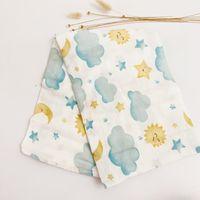 Moon Lion 47Inch70% Bamboo+ 30% Cotton Baby Swaddle Blanket Wraps Newborn Big Diaper Children Kids Muslin quilt 210309