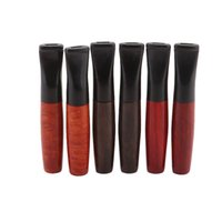Latest Natural Wood Pipes Portable Dry Herb Tobacco Preroll Rolling Cigarette Smoking Holder Cigar Filter Mouthpiece Tips Wooden Tube DHL