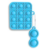 Hörlurar skyddskåpa 1/2 och popleksaker fidget sensory push bubble board game leksak ångest stress reliever barn vuxna autism special