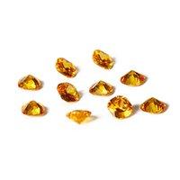 느슨한 보석 패션 노란색 색상 12x12mm 스퀘어 컷 황트네 스톤 12.5ct 보석 판매 쥬얼리 선물 10 PCS / 도매 세트