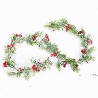 Weihnachtsdekor Rattan Blume Baum Ornament Outdoor Rot Schneeflocke Zweig Natürliche Kiefernkegel Bunte Dekoration Schaum Eisen Draht FWF10284