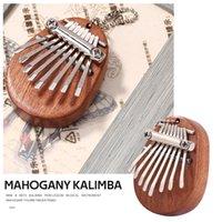 Mahogany Body Musical Instrument Mahogany Wood Thumb Finger Piano Mbira Mini 8 Keys Kalimba