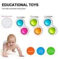 Baby Fidget Simple Dimple Sensory Toys Silicone Flipping Board Teaser Brain Teaser Best Regali Giocattolo educativo per bambini e adulti Colors