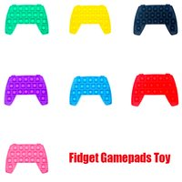 New Fidget Pad Gamepads Toy Party Push Bubble Controller Colorful Hand Shank Game Controllers Joystick Finger Decompression Anxiety Toys