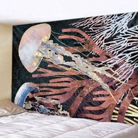 Tapestries Animal And Whale Home Decoration Tapestry Scene Wall Hanging Bohemian Decorative Mandala Hippie Yoga Mattress Sheet