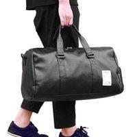 Saco de viagem de couro pu pu carregar bagagem bagagem sacos de lona grande cinto fim fim de semana saco crossbody durante a noite sólido xa88wc 210304