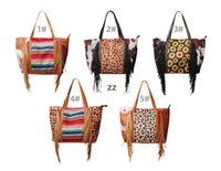 Leopardo Fringe Messenger Bag Listrado Patchwork Borla Crossbody Bags Mulheres Hippie Borls Handbag HWD10097
