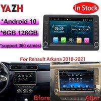 AZH 6GB 128GB 자동차 DVD 플레이어 스테레오 멀티미디어 Renault Arkana Android 10.0 자동 RASIO 지원 오리지널 공장 360 카메라