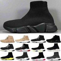 2018 Chaussette à chaud Chaussette de haute qualité Chaussures d'entraîneur de vitesse de haute qualité pour hommes et femmes chaussures chaussures à chaussures tricotées extensibles Mid Casual chaussure taille EUR 36-47 JU9K