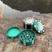 Schnellyard 3-Layer Poker Chip-Stil Gewürzschneider Zigarettenzubehör Gadget Tabakschleifer Herbschneider