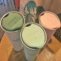 뚜껑이있는 최신 16 온스 스타 벅스 스테인레스 스틸 커피 컵, 스타 벅스 진공 플라스크의 다양한 스타일, 무료 배송 116 S2